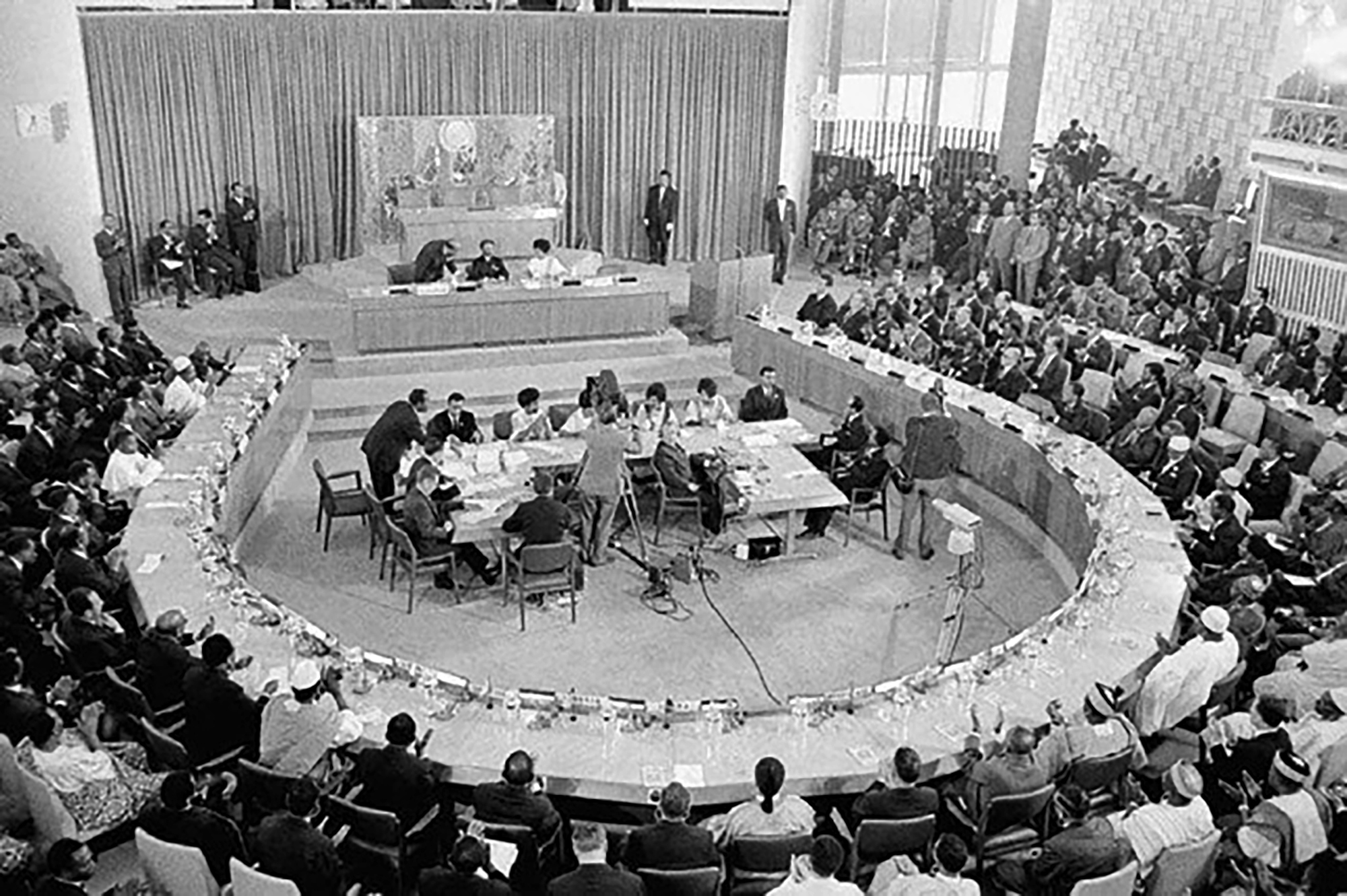 OAU Meeting in 1963 they year the organization was founded