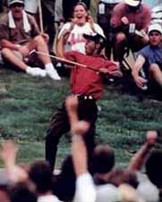Tiger Woods classic performance at The Masters.