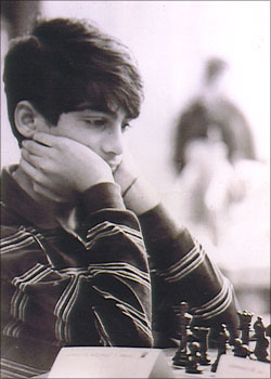Viswanathan Anand of India at the 1987 World Junior Championships.