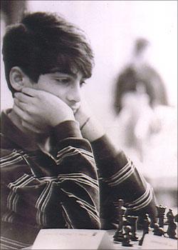 Viswanathan Anand of India at the 1987 World Junior Championships.