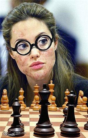 Angelina Jolie, Chess Geek