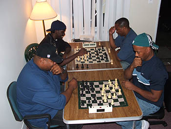 Blitz Battle!  René Phillips (near left). Copyright © 2005, Glenn Bady.
