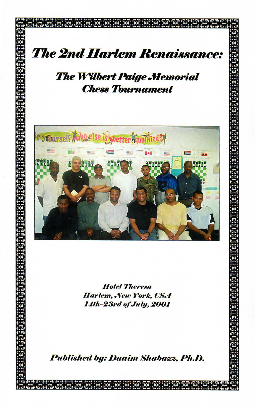 2001 Wilbert Paige Memorial Chess Tournament