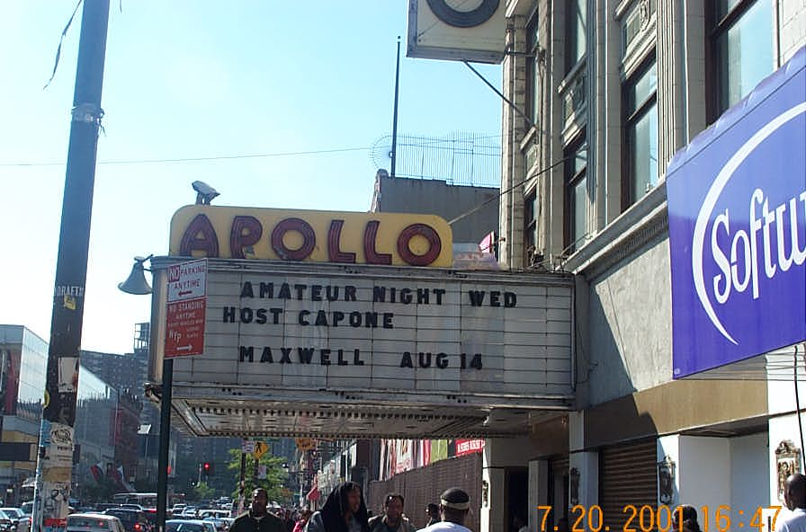 The famous Apollo theater. Copyright ©, Daaim Shabazz.