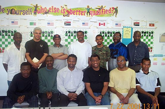 Wilbert Paige Memorial players and commentators. Copyright © 2001, Daaim Shabazz.