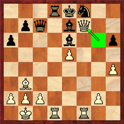 In Browne-Giles, white delivered the knockout blow with 26.Qxf7+! (see game).