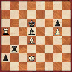 Simutowe had the following position against Anka when his opponent apparently played ...Rb4. This would lose immediately to Bc5+ snaring the rook. Anka saw the mistake and then moved the rook to a safe square.