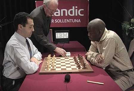 """GM Evgenij Agrest set to face off against NM Pontus Carlsson. The two will take part in a televised rapid match called the """"Power Chess Tournament."""" Carlsson (right) is considered deadly in fast time controls."""
