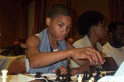 Akeem Gregory-Thompson playing blitz at 2002 World Open.