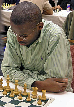 IM Amon Simutowe at the 2007 Chicago Open. Photo by Daaim Shabazz.