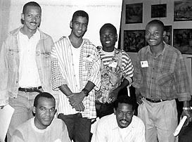 Angolan Men's Team, 1996 Chess Olympiad, Armenia. Copyright © 1996, Jerome Bibuld.