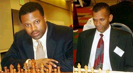 GM Maurice Ashley and FM Stephen Muhammad. Copyright © 2003, Jerry Bibuld.