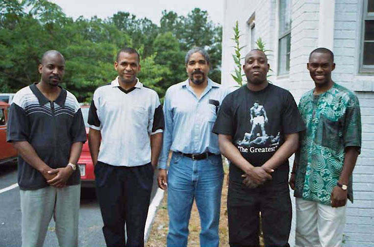 (L-R) NM Elvin Wilson, FM (now IM) Stephen Muhammad, NM Leonard Dickerson, Sulaiman Smith, Daaim Shabazz.