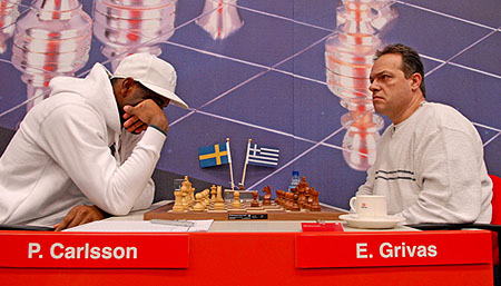 GM Pontus Carlsson playing GM Efstratios Grivas of Greece
