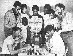 The Carver H.S. chess team, 1981