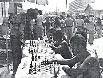 NM Charles Covington giving a simul in Baltimore, MD in 1983.