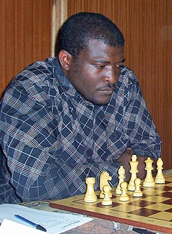 Charles Eichab, Namibia's 2007 National Champion. Photo by namibianchessfederation.com.