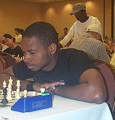 Chikwere Onyekwere of Nigeria at 2006 U.S. Open. Photo by Daaim Shabazz.