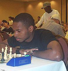Chikwere Onyekwere of Nigeria at 2006 U.S. Open. Photo by Daaim Shabazz.