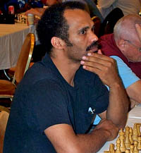 FM Emory Tate at the 2001 World Open. Copyright © 2001, Daaim Shabazz.