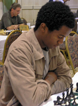 Farai Mandizha of Zimbabwe scored a solid result including a draw with GM Nick DeFirmian.