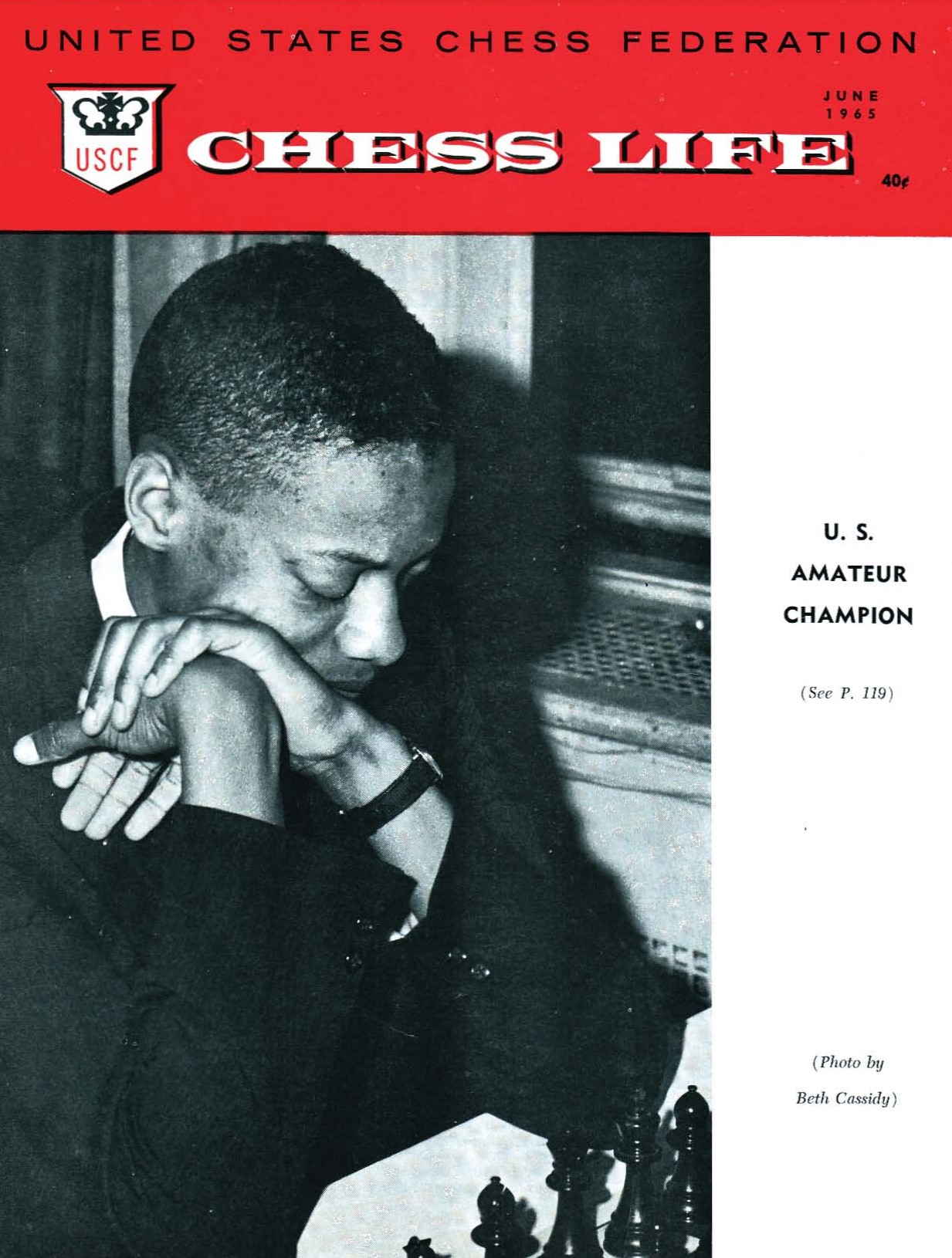 NM Frank Street on the July 1965 cover of U.S. Chess Life. Copyright © 1965, United States Chess Federation.