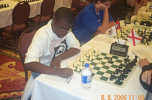 Kayin Barclay, at the 2006 Denker Tournament of Champions. Photo by Daaim Shabazz.