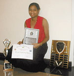 Keisha Ramator, Jamaica's Chess Sportswoman of the Year, 2001.