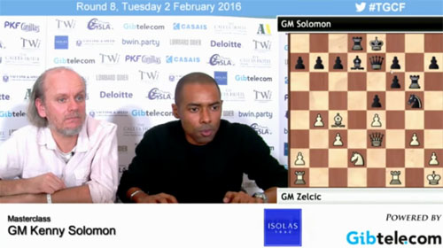 GM Kenny Solomon giving Master Class at 2016 Gibraltar Masters