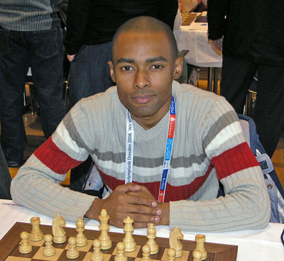 IM Kenny Solomon at 2008 Chess Olympiad in Dresden, Germany. Photo by Daaim Shabazz.