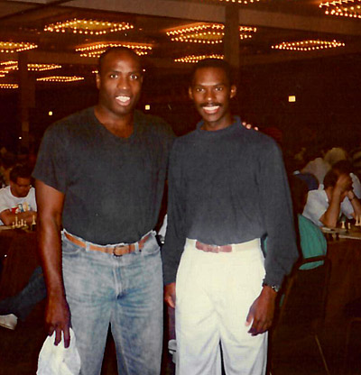 Marvin Dandridge and Daaim Shabazz at 1989 U.S. Open.