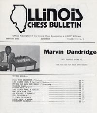 Marvin Dandridge on cover of ICB after winning 1985 'Put Fun Back into CHESS' tournament.