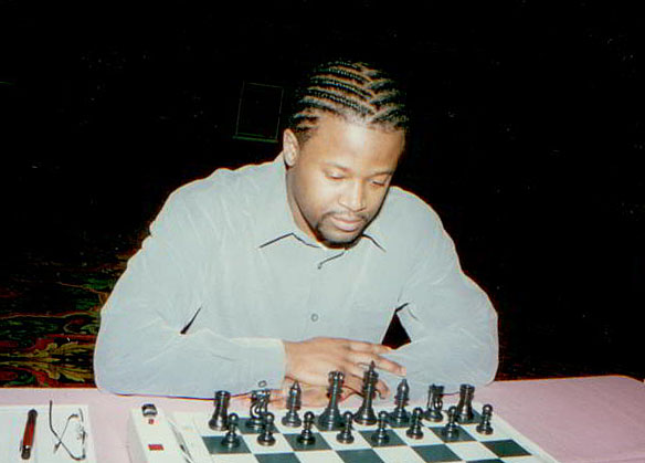 Maurice Ashley in 2001 National  Open. Photo by Jerry Bibuld.