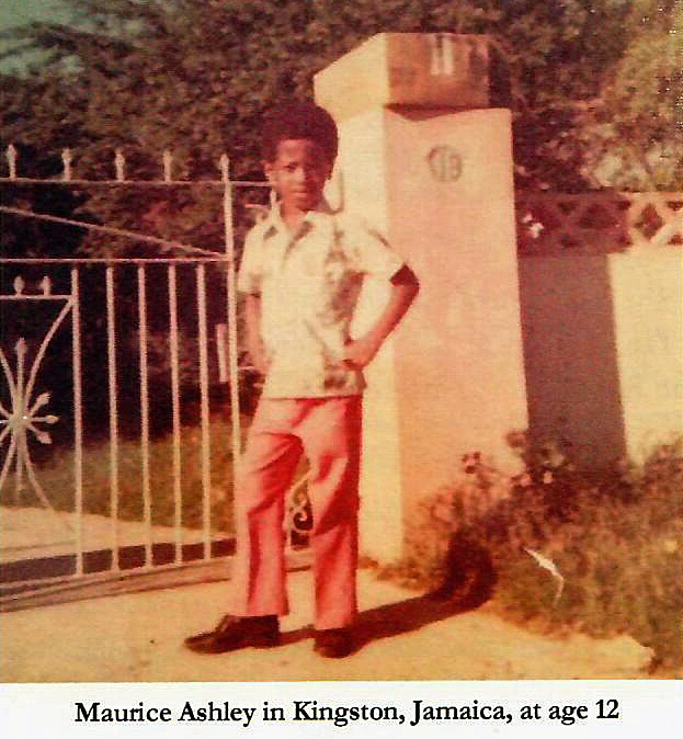 Maurice Ashley in Kingston, Jamaica at age 12