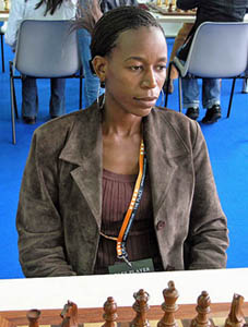 Botswana's WFM Boikhutso Mudongo at the 2006 Olympiad. Photo by Daaim Shabazz.