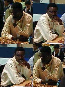 IM Odion Aikhoje of Nigeria... winner of gold medal at 1998 Chess Olympiad in Elista