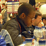 Phemelo Khetho at the 2004 Chess Olympiad. Copyright ©  2006, Daaim Shabazz.