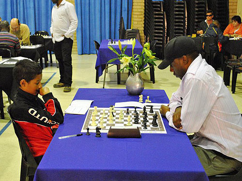 IM Robert Gwaze competing in 2010 South Africa Open against Jordan Star (0-1)