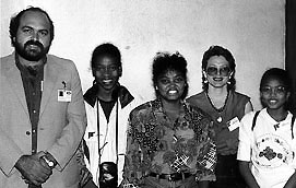 The Seychelles women's team; 1996 Chess Olympiad, Armenia. Copyright © 1996, Jerome Bibuld.