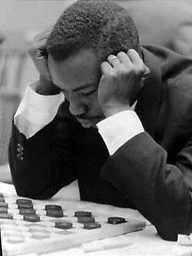 GM Baba Sy playing at the 1960 World Championships in Amsterdam, Netherlands
