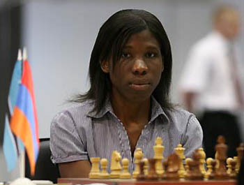 Tuduetso Sabure (Botswana) 2005 African Women's Champion (Photo from Chess South Africa)