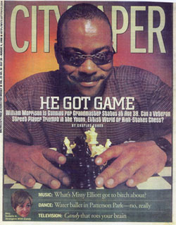 William Morrison on the cover of Baltimore's City Paper, July 28-August 4, 1999.