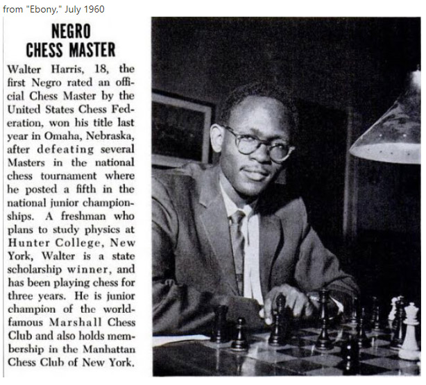 Walter Harris at 18. Photo by Ebony (June 1960)