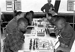 Zimbabwe versus Botswana, 1996 Chess Olympiad, Armenia. Copyright © 1996, Jerome Bibuld.
