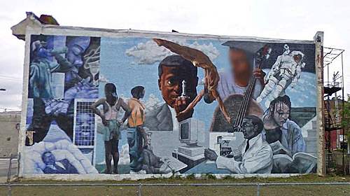 Chess through the eyes of black history the chess drum for Black history mural