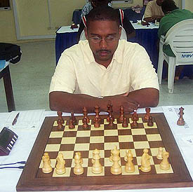FM Delisle Warner, 2005 Barbados Champion. Copyright © 2005, Barbados Chess Federation.
