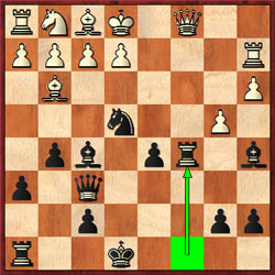In this position the Armenian reels off 16…Rxc5 and wins in fine style.