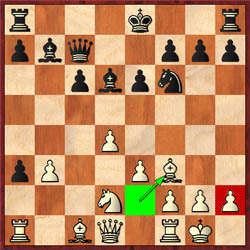 Topalov plays the speculative 15.Bf3!? allowing 15…Bxh2+