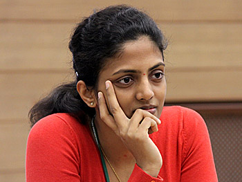 Indian Grandmaster Dronavali Harika may have to carry the Indian flag.