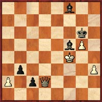 After 53…b3, how does Dandridge stop the pawns??